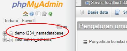 db in phpmyadmin
