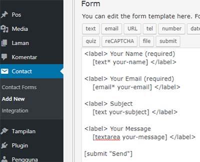 form default