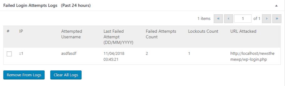 limit login 2 info