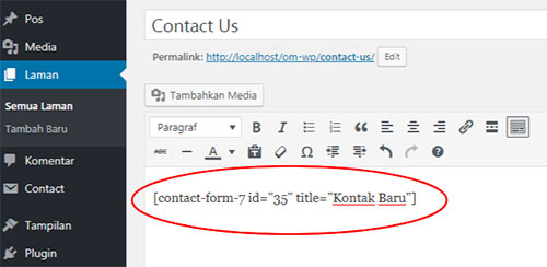 paste-shortcode-contact-form