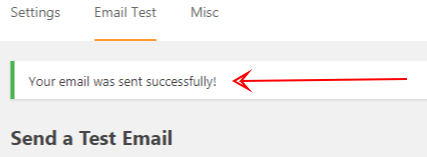 success send email