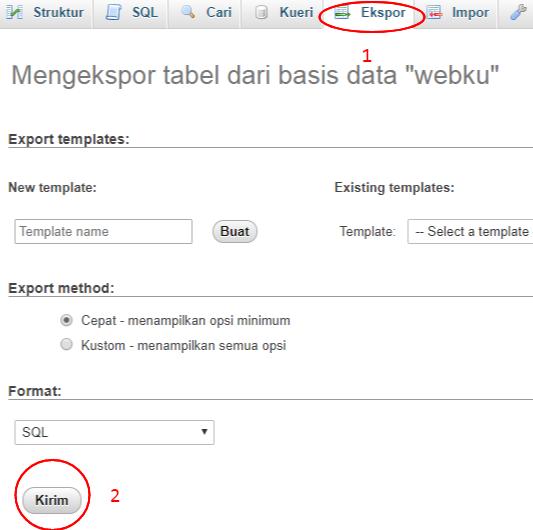 upload hosting ekspor