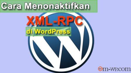 cover menonaktifkan xml-rpc