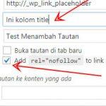Tambahkan Rel Nofollow dan Title pada Link Postingan WordPress