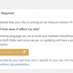 "Notif ""PHP Update Required"" di WordPress dan Cara Update Versi PHP Melalui CPanel"