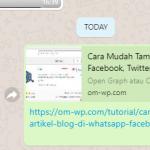 Cara Mudah Tampilkan Gambar Thumbnail Blog di WhatsApp, Facebook, Twitter, dan Media Sosial Lainnya