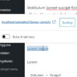 Cara Hapus Link / Url / Tautan di WordPress
