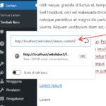 Cara Edit Link / Url / Tautan di WordPress
